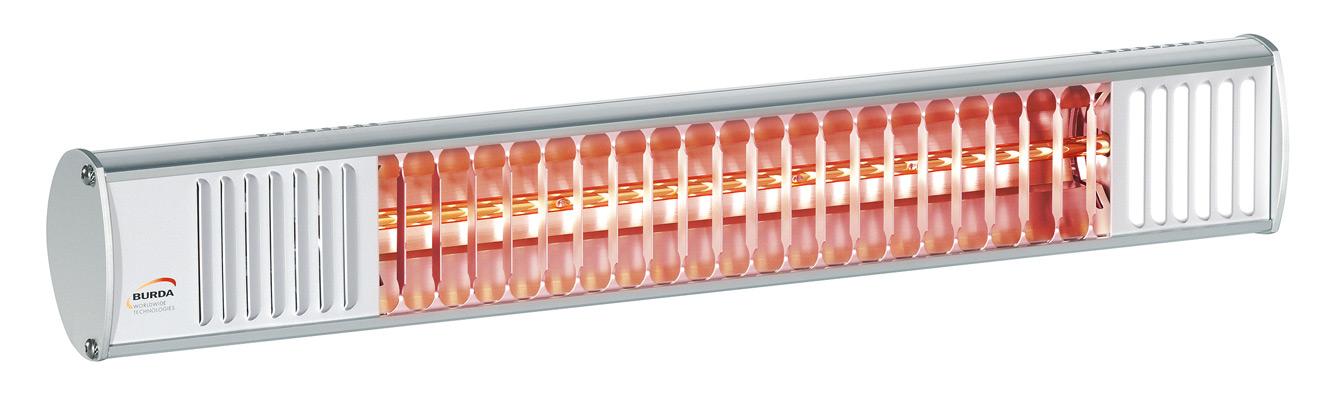 Riscaldatori a raggi infrarossi ad onde corte.